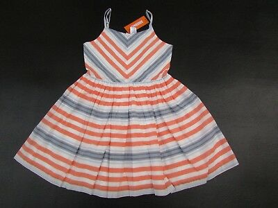 Gymboree Cute on the Coast 3T 4T Dress Orange Striped Crab Bow 2015