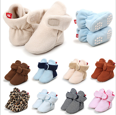 Newborn Baby Winter Cozy Booties Anti Slip Soft Sole Infant Toddler Snow Boots