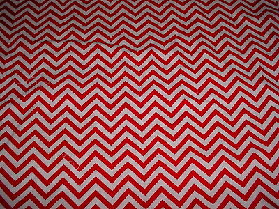 WAVERLY RED WHITE ZIG ZAG COTTON FABRIC 1 1/4 YDS SEWING CRAFT QUILT CHRISTMAS c