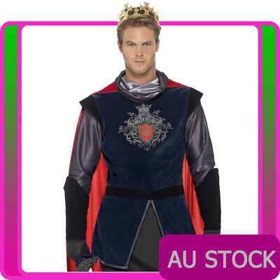 Mens King Arthur Prince Costume Deluxe Medieval Knight Historical Book Week