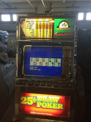 Fortune 1 Vintage 25 Cent IGT Video Poker Machine w/Stand