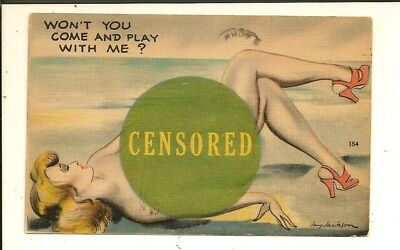 """Comic - Risque - A/S Jay Jackson - """"Colourpicture"""" -Play With Me / CENSORED- 354"""