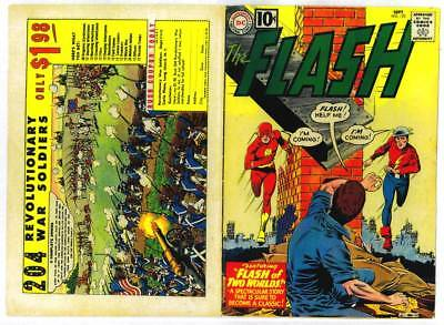 Facsimile reprint covers only to THE FLASH #123 - 1961 Silver Age - 1st Earth 2