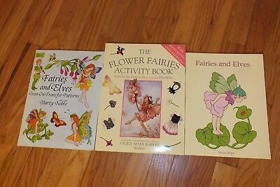 FAIRY LOT OF 3 BOOKS Coloring Transfers and Activities All New Unused