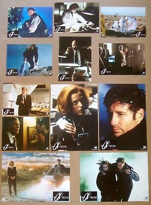 X FILES Movie DAVID DUCHOVNY Gillian Anderson GERMAN LOBBY CARD SET of 12