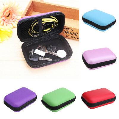 AU Carrying Storage Bag Pouch Hard Case for Earphone Headphone Earbud TF Card