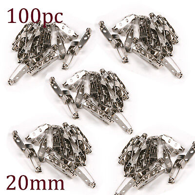 """100X 1-2//5/"""" Metal Brooch Backs Bar Pins Safety Rolling Catch Findings Craft 35mm"""