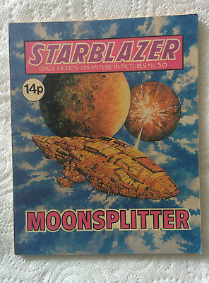 """Starblazer #50 """"MOONSPLITTER"""" published by DC Thomson dated 1981"""