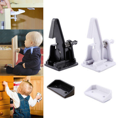 12x Child Baby Safety Invisible Lock Latches Self-adhesive for Cupboard Cabinet