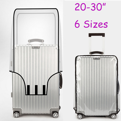 20-30'' PVC Transparent Travel Luggage Protector Suitcase Dust Cover Waterproof
