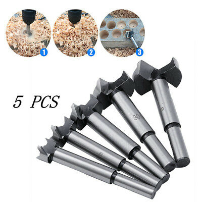 5Pcs/set Wood Drill Bit Set Hole Saw Cutter Wood Tools With Round Shank Tools
