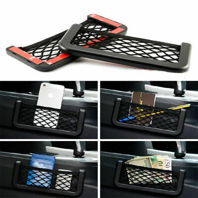 NEW Black Car Vehicle Storage Mesh Nets Resilient String Bag holder Organizer
