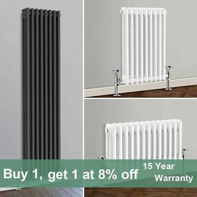 2 3 Column Traditional Cast Iron Style Rads Horizontal Vertical Vintage Radiator