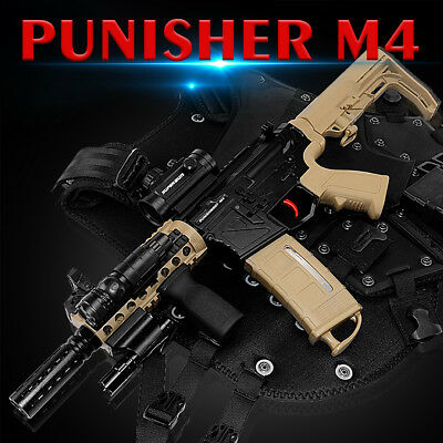 🔥DIY M4 Punisher Water Bullet Magazine Fed Gel Ball Blaster Outdoor Toy CS