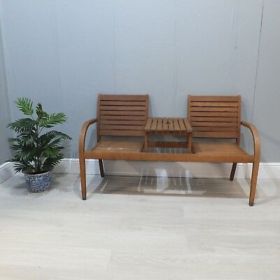 Prime Teak Garden Couples Lovers Double Seat Bench With Table Evergreenethics Interior Chair Design Evergreenethicsorg