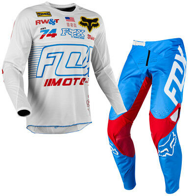 FOX Racing 360 LE Red, White & True Jersey/Pant Bundle