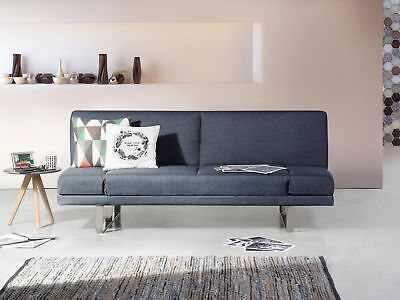 Upholstered Sofa bed - Couch - Fabric - Sofa - Dark Grey - YORK