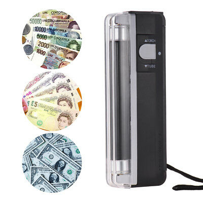 Ultraviolet Counterfeit Money Checker Fake BankNote Currency Detector TORCH B7H5