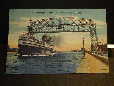 Passenger Ship SS NORONIC Naval Cover unused postcard PORT of DULUTH, MN