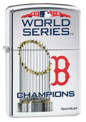 Zippo Boston Red Sox 2018 World Series Champions HP Chrome Lighter, 8911