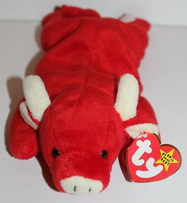 4ab5633641b Tabasco the Bull Beanie Baby Sewn On Tag 4th Generation Sufrace Error TY  Babies