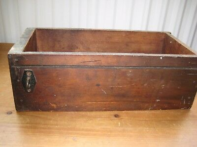 Vintage Wooden Sewing Machine Drawer Box. Antique, old. For storage