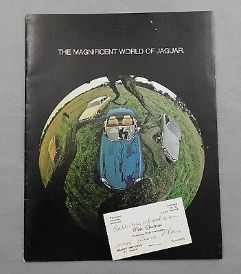 1974 Sales Salesman Brochure Magnificent World of Jaguar E-Type XJ12 Xj6 Catalog