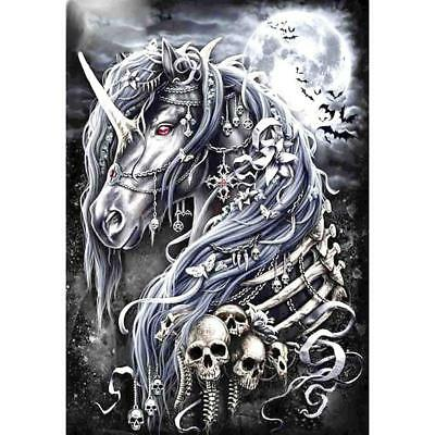 Dark Horse Skull 5D DIY Full Drill Diamond Painting Cross Stitch Embroidery Art