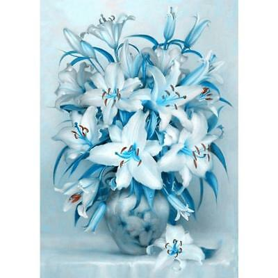 Lily Flower 5D DIY Full Drill Diamond Painting Cross Stitch Embroidery Kit Decor