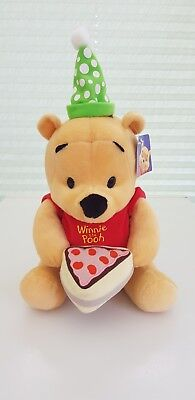 Disney Winnie The Pooh Happy Birthday Soft Toy/ Plush Bear