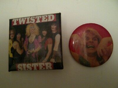 Ozzy Osbourne Twisted Sister Heavy Metal Hard Rock pins buttons