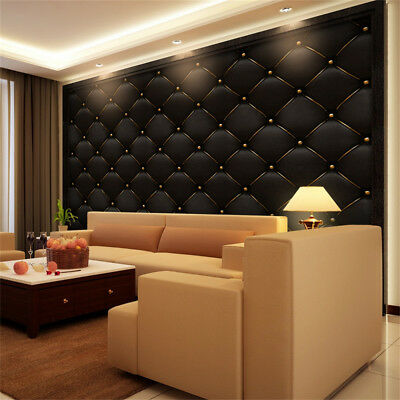 3D Vintage Leather Textured Wallpaper PVC Mural Realistic Look Waterproof W8