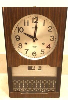 Vintage Old Japanese Made 'Seiko' 30-Day Wall Clock Antique Collectible 4PC 046