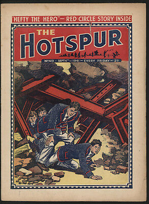 Hotspur #419,  Sept 6Th 1941,  Exceptional Copy From A Private Collection