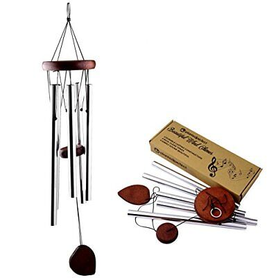 "Planted Perfect Beautiful Wind Chimes - Tuned 22"" Wood Windchimes Deliver Rich,"