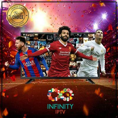 "INFINITY IPTV SUBSCRIPTION+25000 CHANNELS &VOD Best Choice UNLIMITED ""12 Months"""