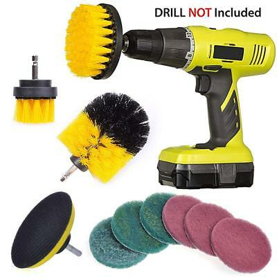 QUIENKITCH 10 Piece Drill Brush Attachments Set, Power Drill Scrub Brush
