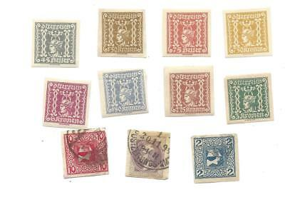 Austria Newspaper StampS -  lot of 11 assorted as shown