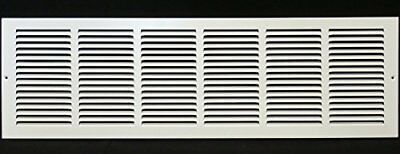 """30""""w X 8""""h Steel Return Air Grilles - Sidewall and Cieling - HVAC DUCT COVER - X"""