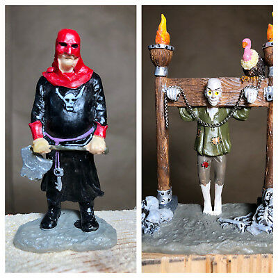 Halloween Spooky Town Layout Lemax 2006 Tortured Soul set of 2 62203 Pillory