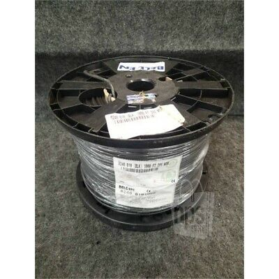 Belden 8240-010 1000ft Spool Black Coaxial Cable, RG-58/U, 20AWG, Solid*