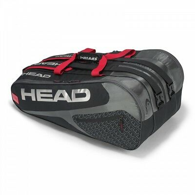 Head Elite 12R Monstercombi Tennistasche schwarz 2018 NEU UVP 60,00€