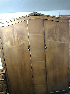 Armoire - Wardrobe Antique ~ French style mahogany  - N. Norman - London