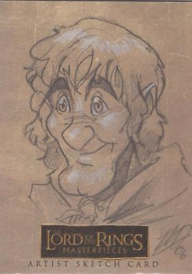 """Lord of the Rings Masterpieces -  Matthew Goodmanson """"Merry"""" Sketch Card"""
