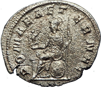 PHILIP I the ARAB 247AD Genuine Ancient Silver Roman Coin ROMA VICTORY  i73605