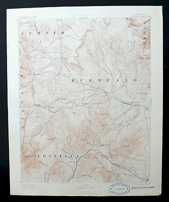 Huerfano Park Colorado Rare Antique USGS Topo Map 1892 Blanca Peak La Veta