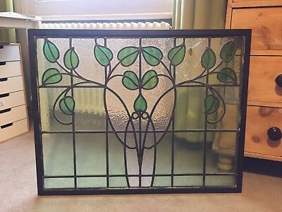 Framed Large Stained Glass Window