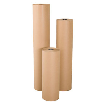 """24"""" wide x 900' long 40 lb Rolled Brown Kraft Paper Void Crafting Fill"""