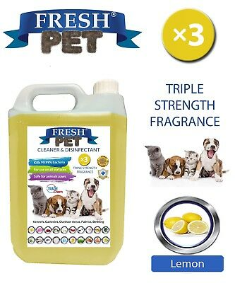 Fresh Pet Niche Chien Désinfectant Triple Force Parfum - 5L Citron