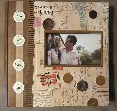 Travel themed 4x6 Photo Album - Holds 200 Pictures